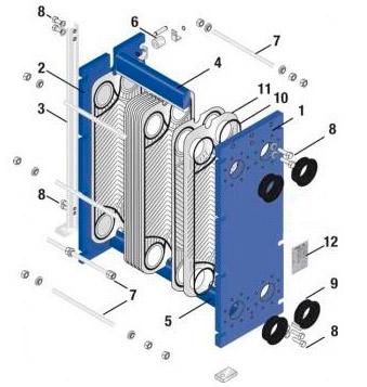 Пластины теплообменника Funke FP 405 Кострома Пластины теплообменника SWEP (Росвеп) GC-26N Новоуральск